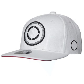 SNAPBACK WHITE LEATHER